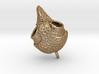 Screech Owl Pendant - Patterned 3d printed