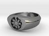 MTG Plains Mana Ring (Size 7) 3d printed