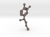 Adrenaline Molecule Keychain 3d printed