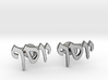 "Hebrew Name Cufflinks - ""Yosef"" 3d printed"
