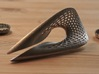 Zisch... Bottle Opener with perforated pattern 3d printed Polished Nickel
