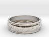 Size 11 Pet Paw Ring Engraved B 3d printed