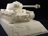 1:35 KV-1S Tank from World of Tanks game  3d printed Photo of printed model on stand. Stand is sold separately