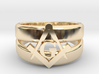 Masonic Ring, Mens size 11.5 3d printed