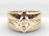 Masonic Ring, Mens size 11.5 3d printed