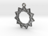 """Hendecagram 3.0"" Pendant, Cast Metal 3d printed"