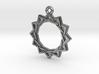 """Dodecagram 3.0"" Pendant, Cast Metal 3d printed"