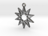 """Decagram 4.1"" Pendant, Cast Metal 3d printed"