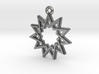 """Hendecagram 4.1"" Pendant, Cast Metal 3d printed"