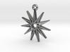 """""""Hendecagram 5.1"""" Pendant, Cast Metal 3d printed"""