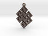 """Endless Knot"" Pendant, Printed Metal 3d printed"