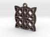 """Gothic Knot"" Pendant, Printed Metal 3d printed"