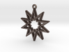 """""""Decagram 4.1"""" Pendant, Printed Metal 3d printed"""