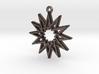"""""""Dodecagram 5.1"""" Pendant, Printed Metal 3d printed"""