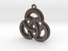 """Sacred Symmetry"" Pendant, Printed Metal 3d printed"