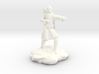 Elf Monk With Bow On Back 3d printed