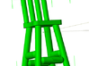 Rustic Chairs, Tables and Bar Stools HO Scale 3d printed Tall Chair (bar stool)