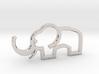 Elephant outline pendant 3d printed
