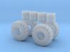 1/87th log skidder or construction tires 3d printed