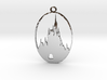 DW Inspired Cinderellas Castle 2 Inch Pendant 3d printed