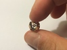 Apollonian Octahedron Supersmall 3d printed Polished Bronze