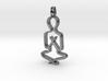 Namaste Pendant 3d printed