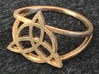 Triquetra Ring (choose size) 3d printed The frame triquetra ring in raw bronze.