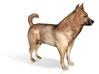 "Shepherd Dog - 5cm / 2"" - Full Color 3d printed 5"