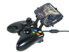 Xbox 360 controller & Lava Iris 404 Flair 3d printed Side View - A Samsung Galaxy S3 and a black Xbox 360 controller