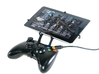 Xbox 360 controller & Maxwest Nitro Phablet 71 3d printed Front View - A Nexus 7 and a black Xbox 360 controller