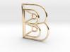 B Pendant 3d printed