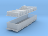 N scale 36' riveted BSX covered coil car 3d printed