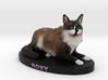 Custom Cat Figurine - Roxy 3d printed