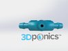 Y-Splitter (Version 1) - 3Dponics 3d printed Y-Splitter (Version 1) - 3Dponics Drip Hydroponics
