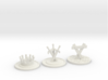 CitOW tokens (26 pcs) - crown, sword, triangle 3d printed Sample render - One of each token (sprue contains 26 tokens total)