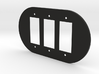plodes® 3 Gang Decora Outlet Wall Plate 3d printed