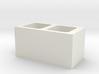 1:12 Scale Cinder Block (end type) 3d printed