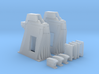 1/144 - Holddown Arms LC-34 (2x opened doors) 3d printed