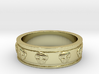 Ring with Skulls - Size 4 3d printed