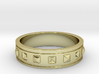 Ring with Studs - Size 7 3d printed