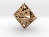 Golden Octahedron Pendant #1  3d printed