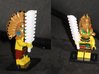 Aztec Weapons 3d printed Macuahuitl in WSF