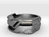US8.5 Ring XXI: Tritium (Silver) 3d printed