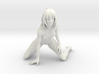 1:10 scale Nude Knealing White Strong Material 3d printed