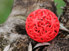 Knotted Star Ball 3d printed Red Strong & Flexible Polished