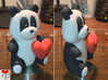 Panda Loves You (8cm) 3d printed