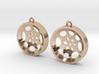 """Double Tenor """"void"""" steelpan earrings, M 3d printed"""