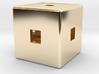 Material Sample (Hollow,) Cube, 10mm 3d printed