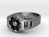 US11 Ring XIX: Tritium (Silver) 3d printed