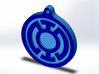 Blue Lantern Key Chain 3d printed